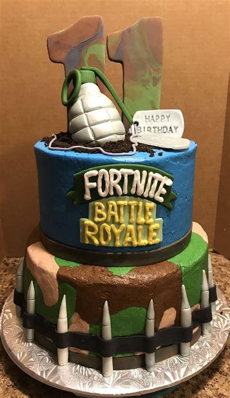 fortnite battle royale birthday cake boy birthday cake