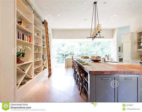 rolling kitchen island plans modern kitchen butcher block top island stock photo