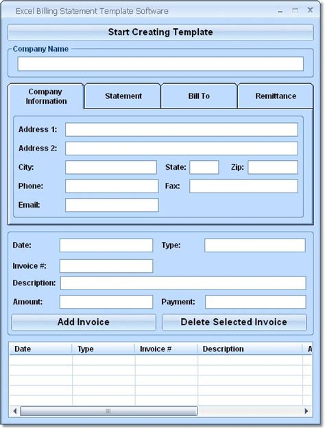 excel billing statement template software  review