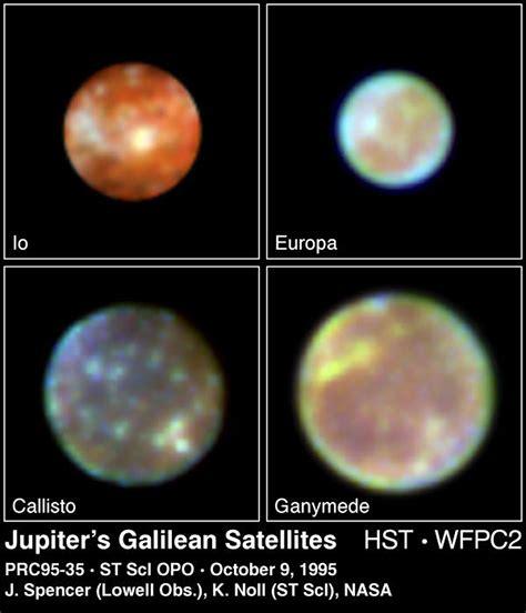 Jupiter's Galilean Satellites   ESA/Hubble