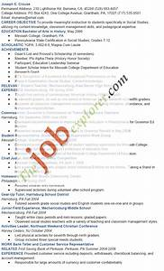 Academic Resume Sample Sample Academic Resume Template