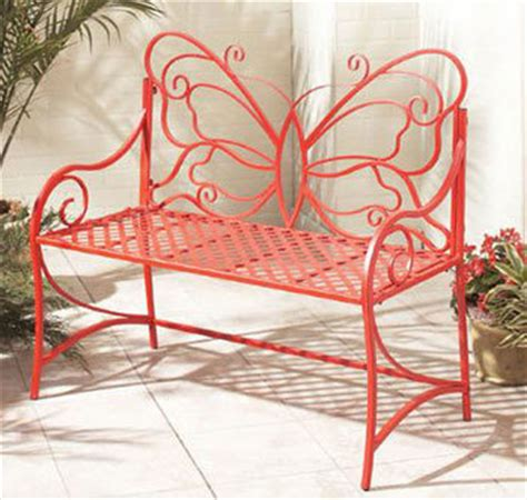 China Wrought Iron Butterfly Garden Bench (lmgb3002