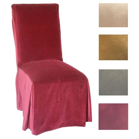 classic slipcovers microsuede parsons chair slipcover set