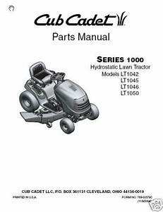 Cub Cadet Parts Manual For Lt1042