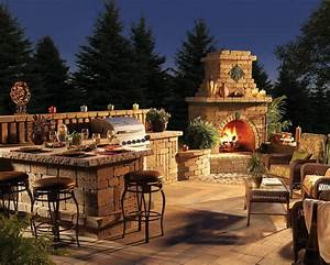 home and garden fireplace ideas living interior design With outdoor kitchen and fireplace designs