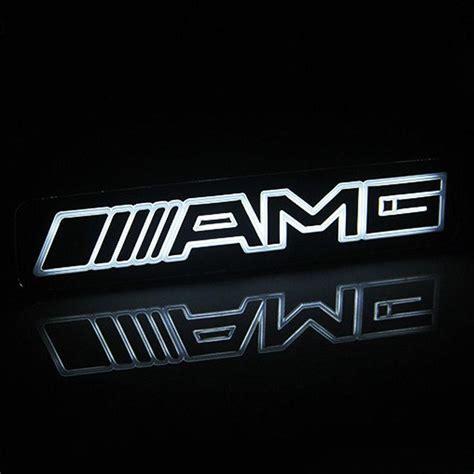 mercedes amg logo 2019 amg emblem badge sticker led light front grille grill