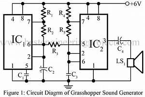 grasshopper sound generator circuit using 555 timer ic With simple sound alarm generator using cd4011