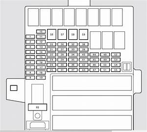Honda Insight  2010 - 2011  - Fuse Box Diagram