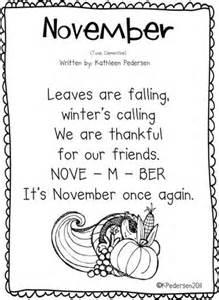 Song November Calendar