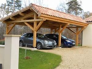 abris de voiture vente d39un carport en bois asymetrique With plan maison en pente 15 abris 2 pans asymetrique charpente bois wood structure