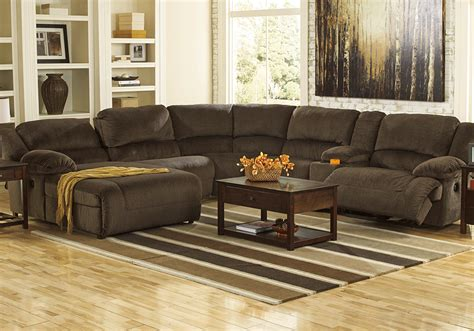 cincinnati kitchen cabinets toletta chocolate 6pc reclining laf chaise sectional 2207