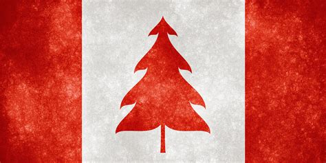 canada grunge flag christmas tree grunge textured flag