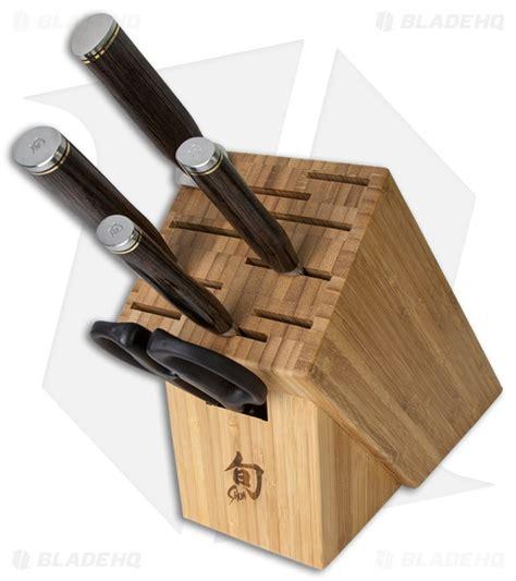 basic kitchen knives shun premier 6 piece basic block set kitchen knives blade hq