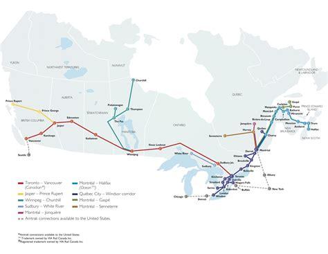 Carte Du Canada Le Monde En Marche by Canada Trains De Voyageurs Carte Populationdata Net