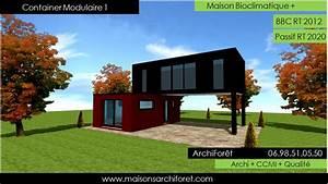 Toiture Metallique Pour Maison : maison container modulaire ossature bois d architecte ~ Premium-room.com Idées de Décoration