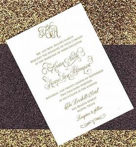 luxurious foil stamped custom calligraphy wedding With personalised foil wedding invitations