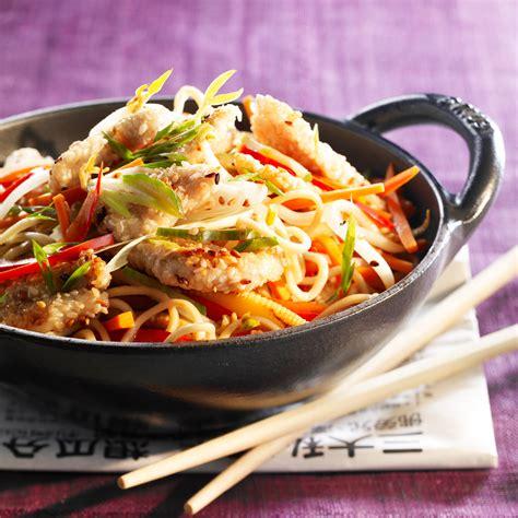 recettes de cuisine au wok wok de poulet aux légumes facile et pas cher recette