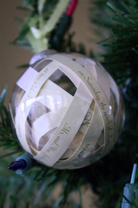 diy ornaments wedding invitation ornament