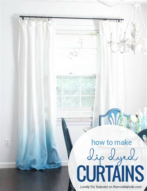 remodelaholic make your own ombre dip dye curtains