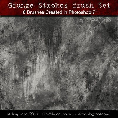 Shadowhouse Creations: Grunge Strokes Brush Set (With