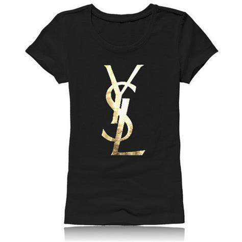 t shirt gold ysl black from zzzafternoon on etsy