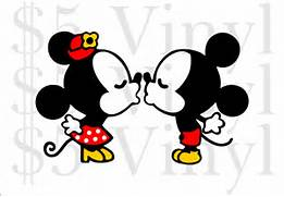 Baby Minnie And Mickey...Mickey Mouse And Minnie Kissing