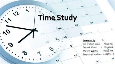 time study time study