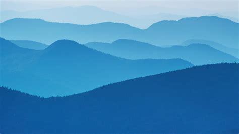 wallpaper mountains lake placid minimal blue