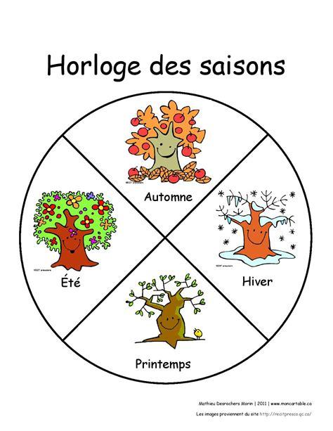 foto de MDMhorlogesaisonP page 001 Préscolaire Saisons
