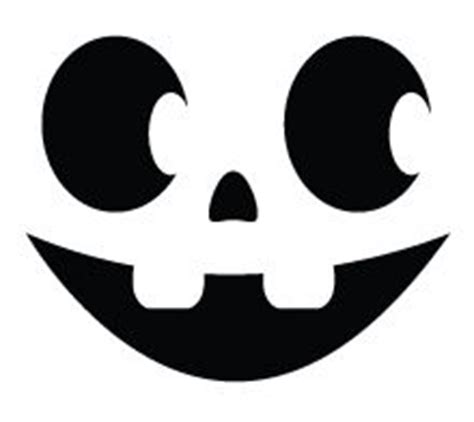 halloween pumpkin carving template smiley face happy