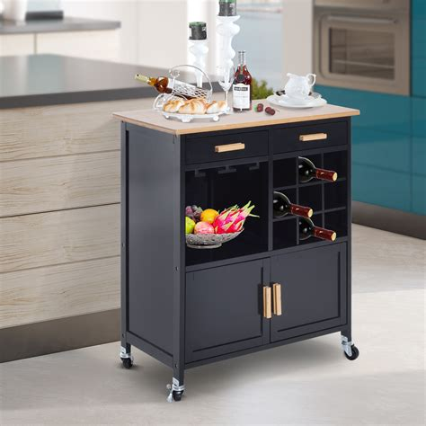 wooden kitchen rolling storage cabinet rolling kitchen trolley serving cart wood storage cabinet