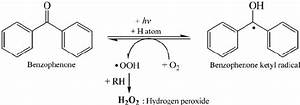 Schematic Reaction Of Producing Hydrogen Peroxide In The Benzophenone
