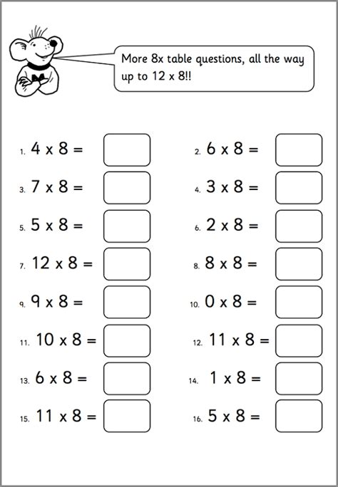 worksheets for 6 year olds to print learning printable