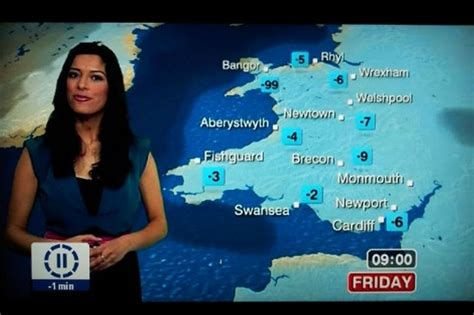 Bbc Weather Map's 99c Gaffe Raises A Smile On Twitter