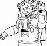 Astronaut Coloring Pages Nasa Space Shuttle Hello Hi Suit Wecoloringpage Printable Getdrawings Getcolorings sketch template