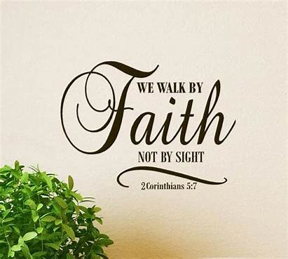Faith Sight Walk Decal Corinthians Scripture Religious