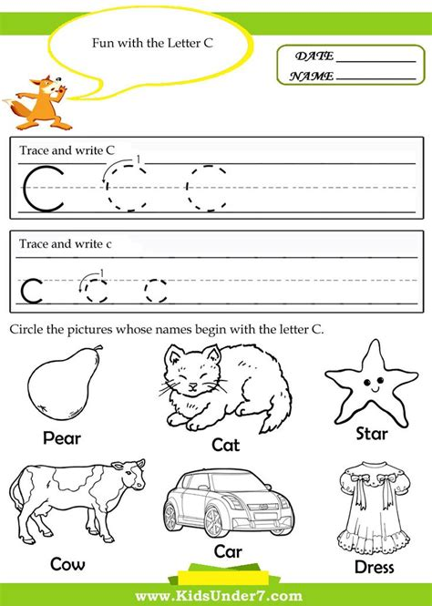 letter c worksheets for preschool search letter 124 | 654fa063177185560f7ed0304b007844 letter c worksheets letter sound activities