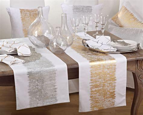 Agatha Gold Table Runner   LivLuxe Designs
