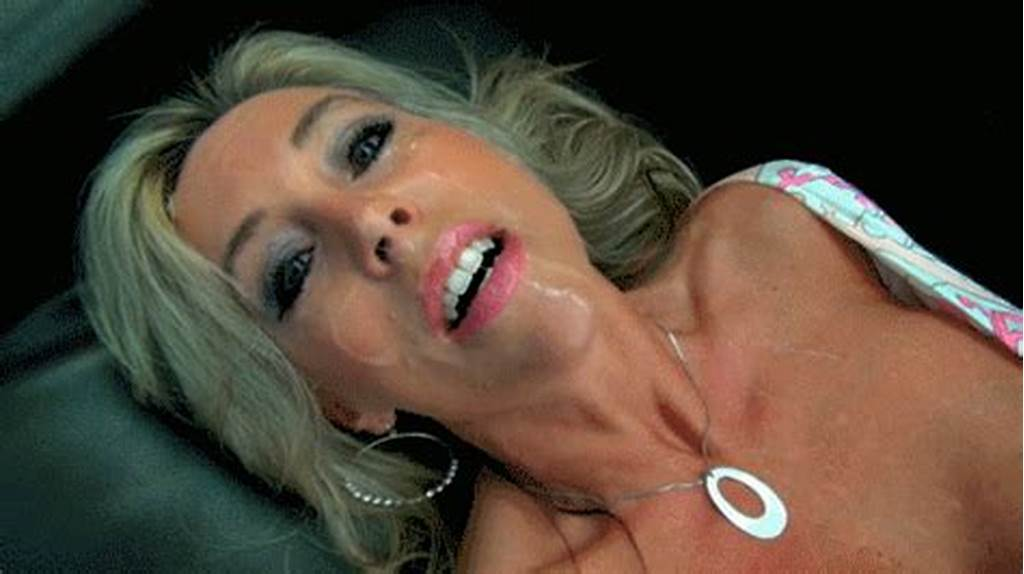 #Blonde #Milf #With #Cum #On #Face #Gif