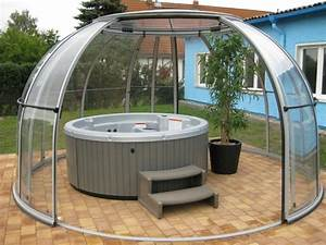 hot tub in the garden treat yourself to this loading With whirlpool garten mit balkon sitzecke rattan