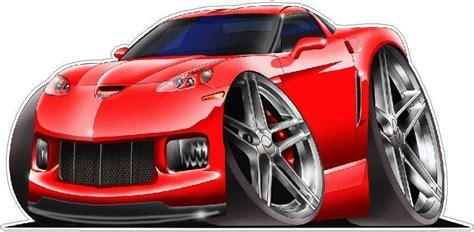 1997 2013 Corvette Z 06 Ls7 505hp Cartoon Car Wall Graphic