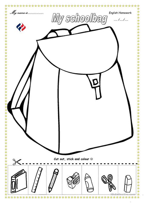 Schoolbag Worksheet  Free Esl Printable Worksheets Made By Teachers