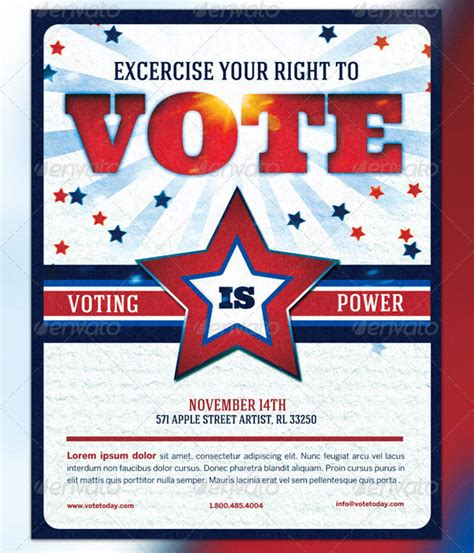 voting flyer templates free 9 best images of voting flyer templates vote for me flyer templates political caign flyers