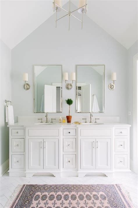 How Much Does A Bathroom Mirror Cost by Master Bathroom With Vaulted Ceiling And Pink Rug