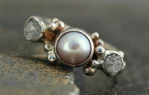 pearl engagement rings with diamonds stunning pearl and engagement ring onewed