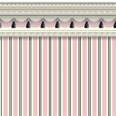 Striped Wallpaper Living Room by The Dolls House Emporium Pink Regency Stripe Wallpaper
