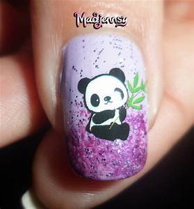 panda nails how to water decals nail gallery