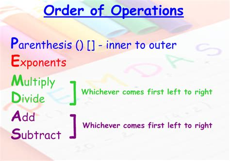 Miss Kahrimanis's Blog Order Of Operations