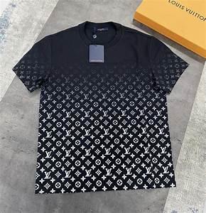 louis vuitton monogram gradient black t shirt