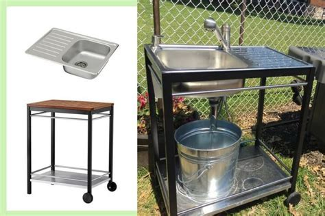 Outdoor sink: A perfect Summer project   IKEA Hackers